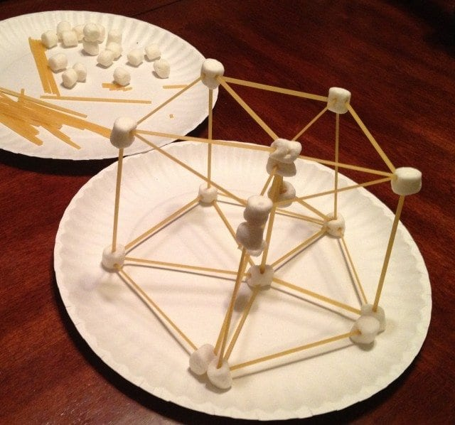 3-D Marshmallow and Linguine Structure