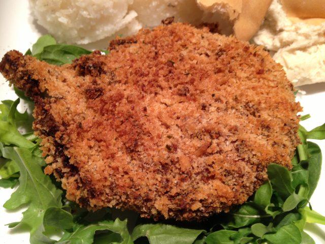 Truffle Salt and Panko Crusted Pork Chops