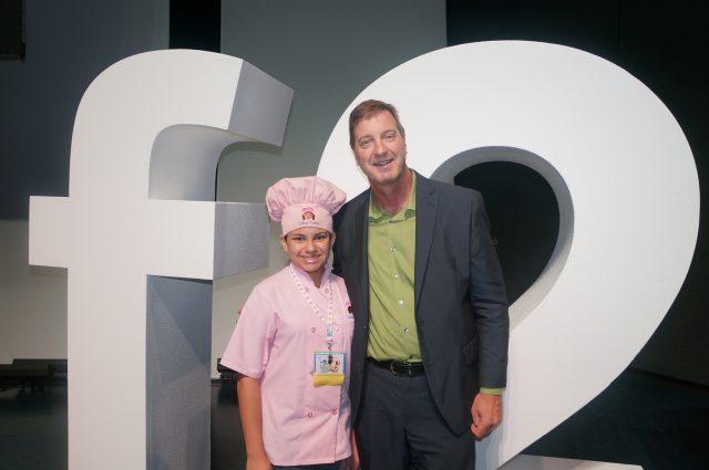 Kid Chef Eliana with Chef David Binkle