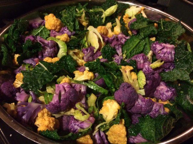 Sauteed Veggies with Purple Cauliflower