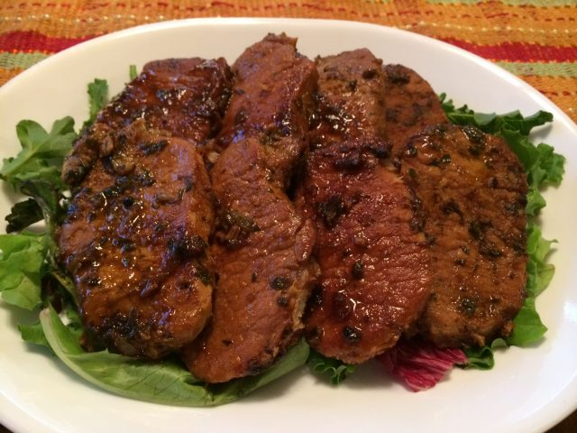 Root Beer Cilantro and Oregano Braised Pork Chops