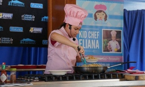 Kid Chef Eliana at Louisiana Seafood Festival October 2014