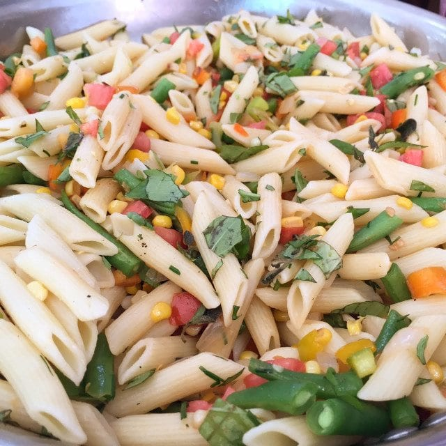 Corn and Veggie Penne Pasta