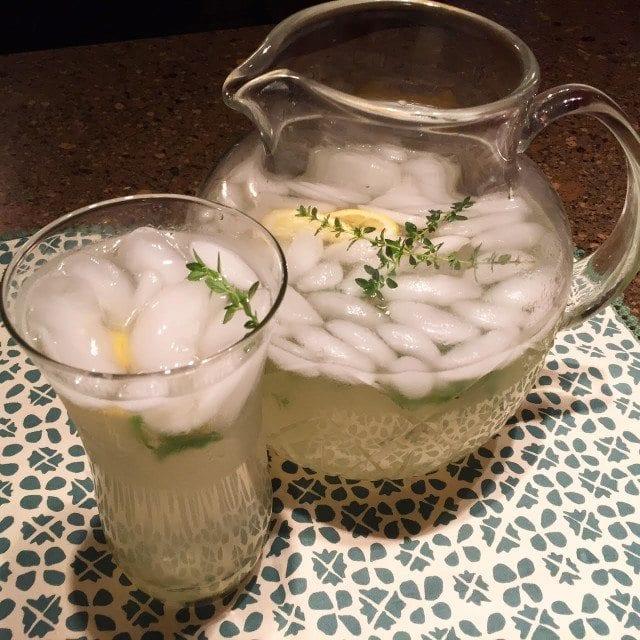 Lemon Thyme Lavender Lemonade