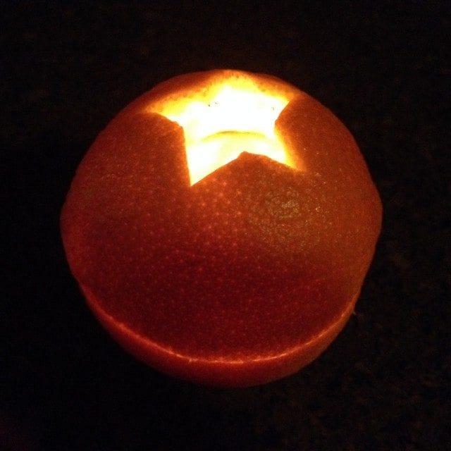 Glowing Orange Tealight Holder