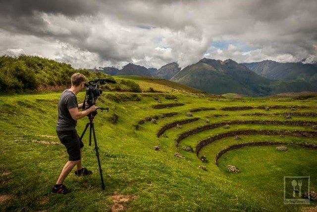 Matthew Noel taking photos in Peru